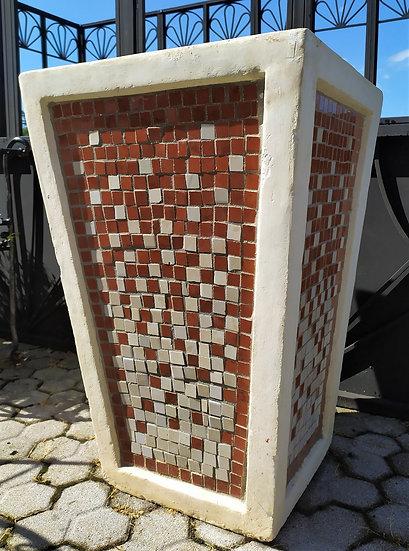 Grande vaso maiolica e cemento cm 75 h