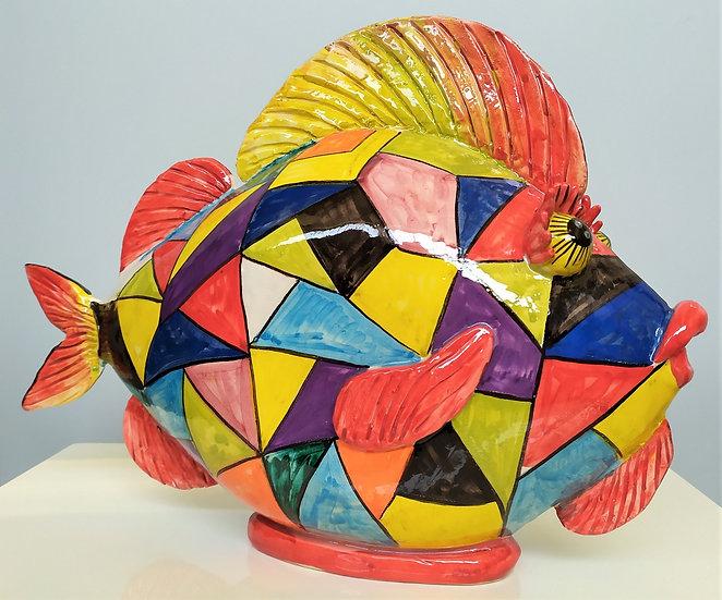 Pesce cm 30 h - ceramica di Caltagirone