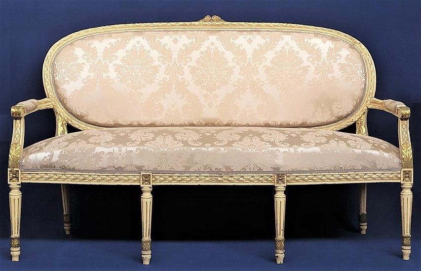 Divano stile Luigi XVI in legno laccato - Italia XX sec.
