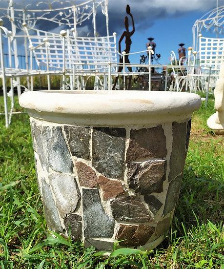 Vaso pietra e cemento cm 30 h