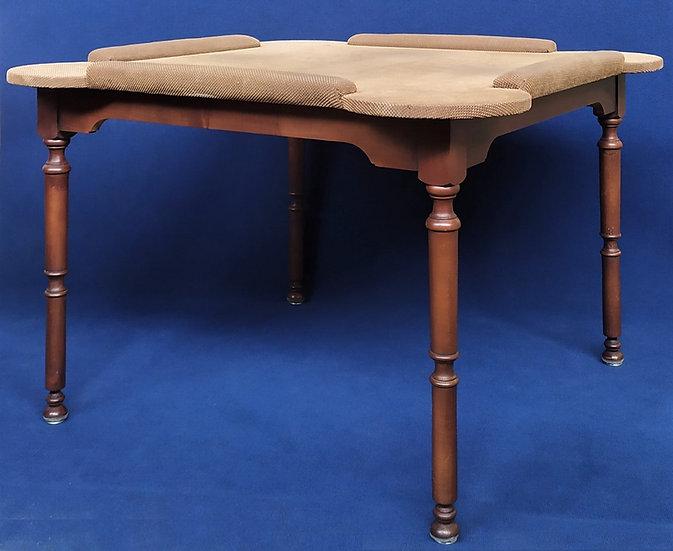 Tavolo da gioco in legno con top imbottito - Italia XX sec.