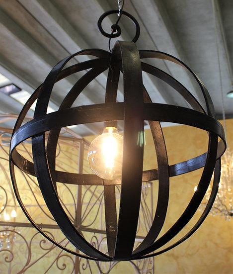 Lampadario sfera in ferro battuto - diam. cm 60