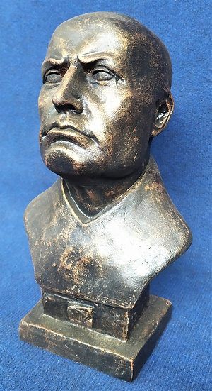 """Busto in ghisa """"Benito Mussolini"""" - cm 33 h"""