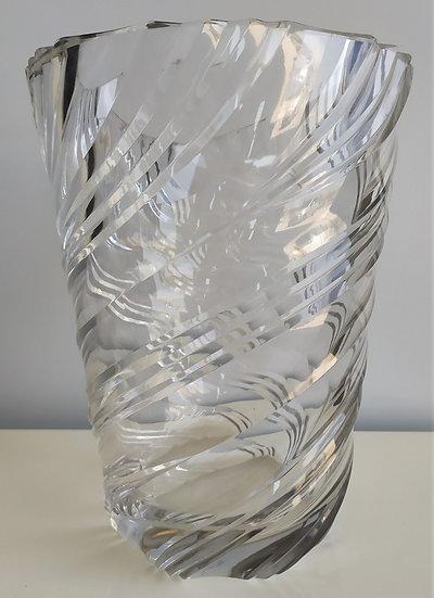 Vaso in cristallo a spirale - Italia anni '60