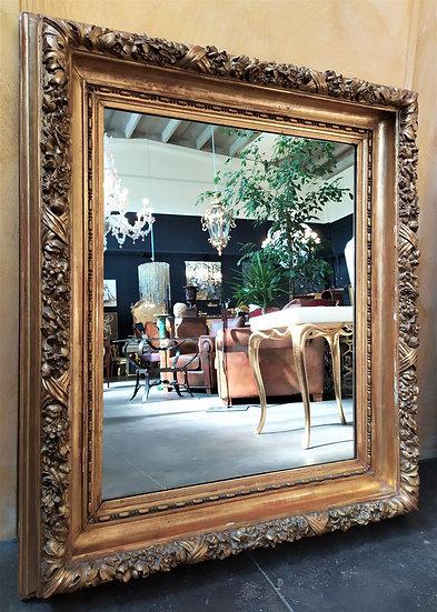Grande specchiera in legno dorato - Italia XIX sec.