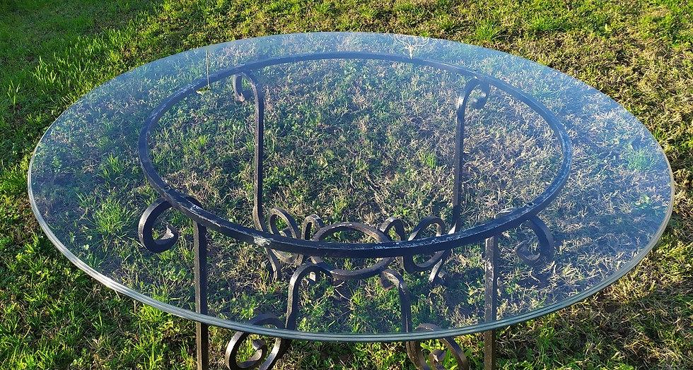 Top in vetro molato cm Ø 100 - spess. 10mm