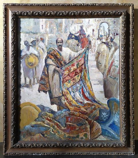"""Grande dipinto olio su tela """"A. Rivas"""" - XIX XX sec."""
