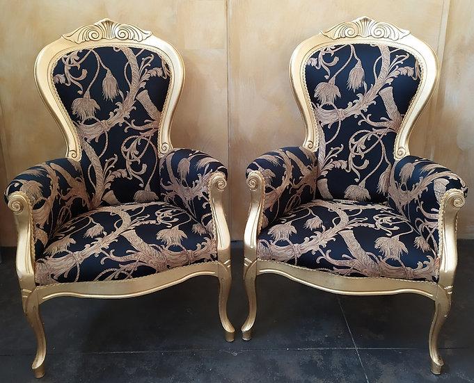 Coppia poltrone in stile Versace - XX secolo