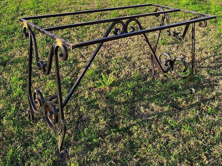 Base per tavolo stile fratino in ferro battuto cm 70x140