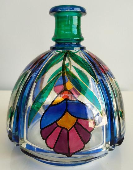 Dado Torrigiani - Bottiglia in vetro dipinto a mano - 1984