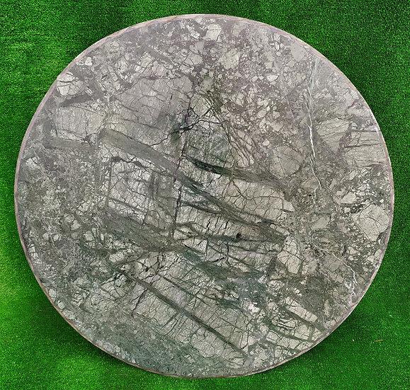 Top in marmo verde Alpi cm Ø 100 - spess. 15mm