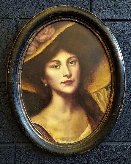 Ritratto olio su rame (1) - Piemonte XIX sec.