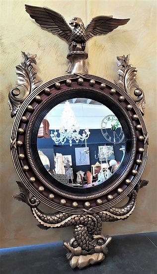 Grande specchiera tonda stile Inglese - XX secolo