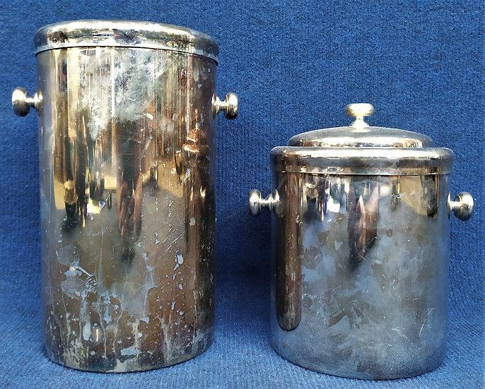 Glacette e portaghiaccio in silver plated - Francia XX sec.