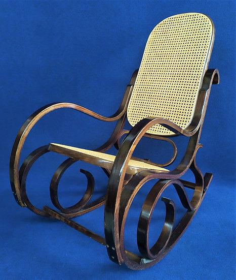 Dondolo stile Thonet in legno curvato - anni '70