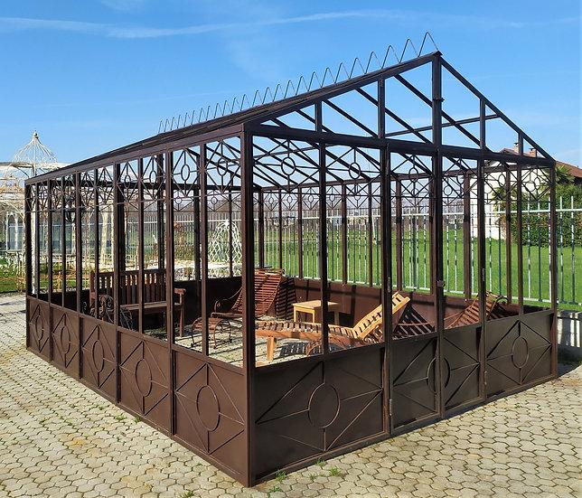 Serra da giardino in ferro battuto 4 x 5 mt