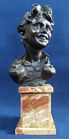 """Scultura in bronzo """"Acquaiolo"""" - cm 60 h - V. Cinque (1852-1929)"""