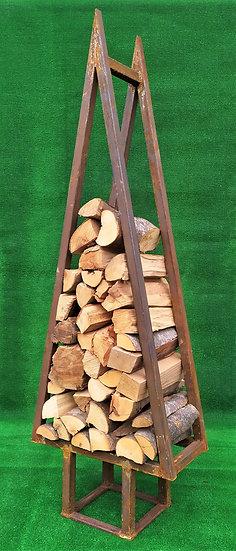 Grande porta-legna in ferro grezzo - cm 150 h