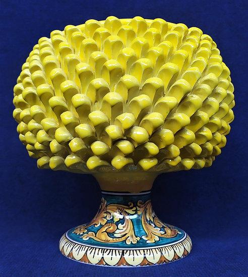 Vaso giallo e azzurro cm 30 h - ceramica di Caltagirone