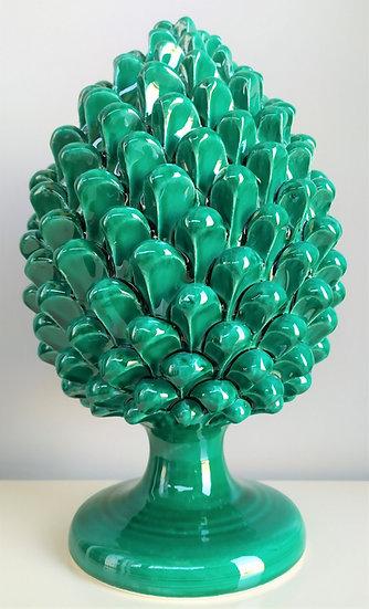 Pigna verde smeraldo cm 30 h - ceramica di Caltagirone