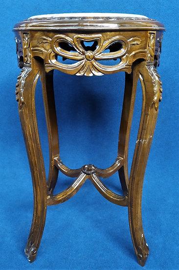 Tavolino in legno lucido con top in marmo - Italia XX sec.