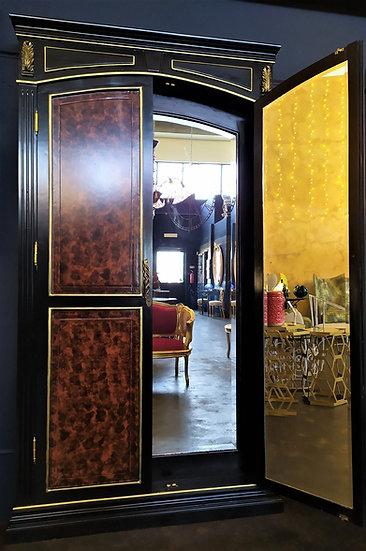 Grande Porta/Cabina a specchi in legno- XX sec.