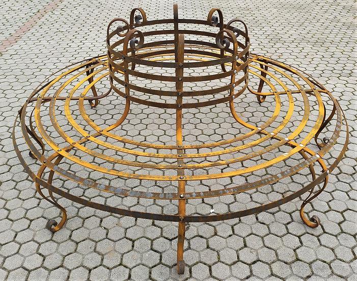 Grande panchina ad albero in ferro battuto - Ø 220 cm