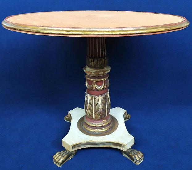 Tavolo da centro in legno intagliato e top in velluto - Italia XIX sec.