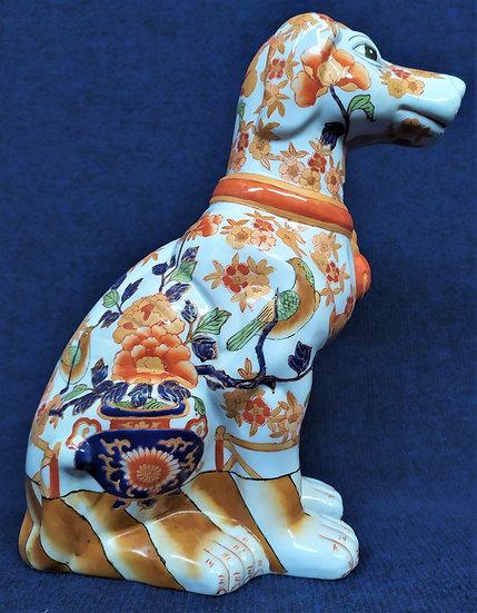 Cane in ceramica policroma - Giappone metà XX sec.