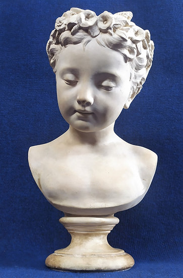 Busto di fanciulla in ceramica di Signa - cm 38 h - XIX/XX sec.