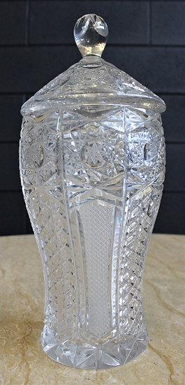 Potiche in cristallo molato