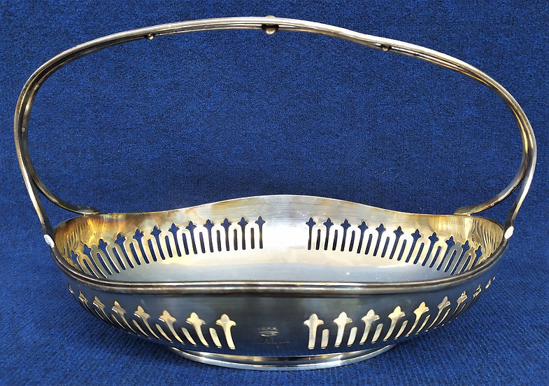 """Cestino art deco in silver plated """"F.lli Broggi"""" per transatlantico anni '30"""