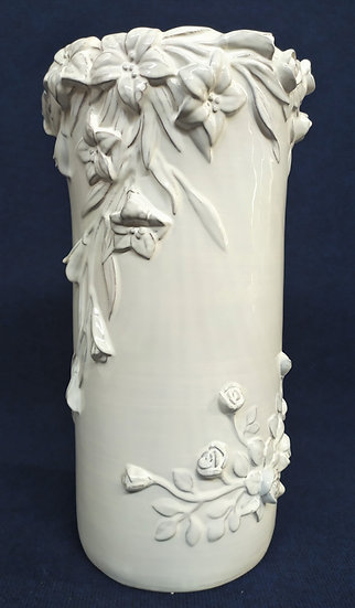 Grande vaso in ceramica smaltata - Bassano - cm 50 h