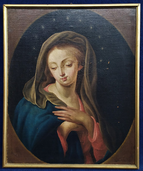 "Dipinto olio su tela ""Madonna"" - scuola italiana XVIII sec."