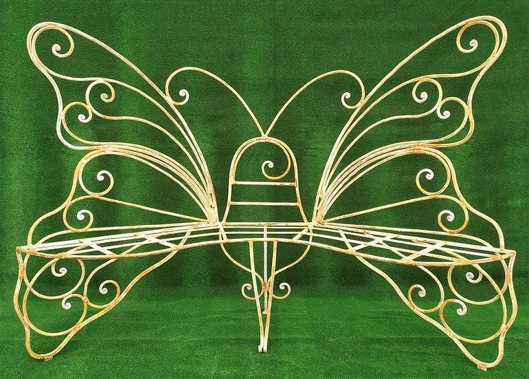 Divano a farfalla in ferro battuto