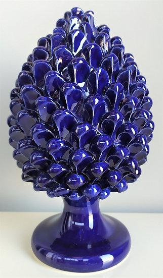 Pigna blu cobalto cm 30 h - ceramica di Caltagirone