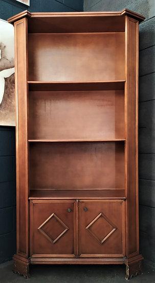 Libreria in legno 3 livelli + 2 ante - Italia XX sec.