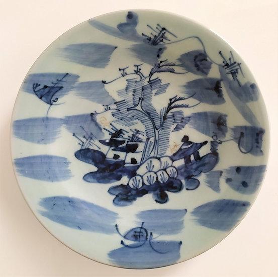 Piatto in porcellana Celadon Ø 26 cm - Cina XX sec.
