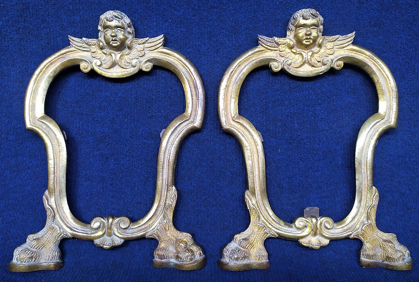 Coppia di cartagloria in bronzo dorato - Napoli XVIII sec.