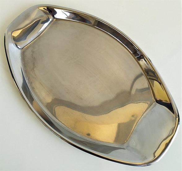 Vassoio ovale in silver plated - Italia anni '50 '60