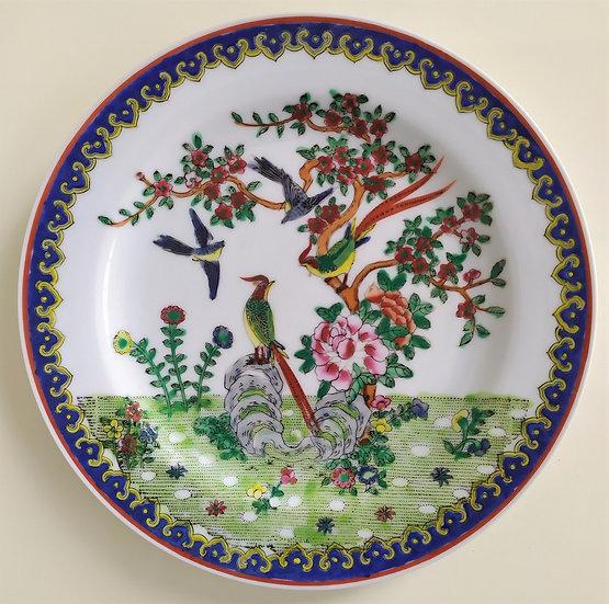 Piatto in ceramica policroma - Giappone XX sec.