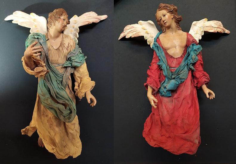 Coppia Angeli presepe napoletano XIX-XX sec.