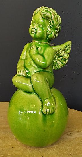 Angioletto in ceramica smaltata cm 39 H