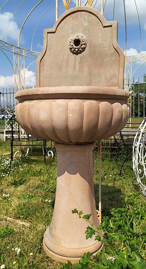 Fontana da muro in terracotta toscana - cm 140 h