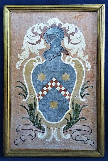 Grande Stemma Araldico in mosaico policromo - Italia XIX/XX sec.