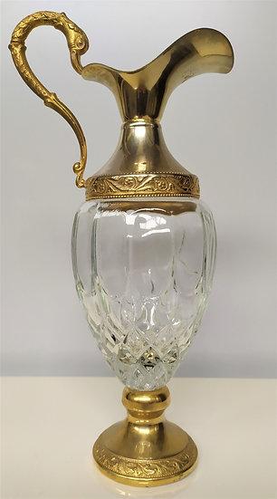 """Brocca in vetro e silver plated """"Distillerie Buton"""" - Italia XX sec."""