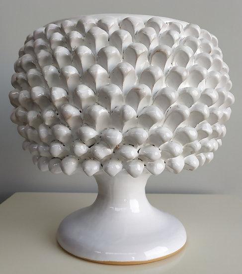 Vaso bianco cm 30 h - ceramica di Caltagirone