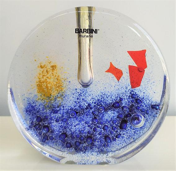 Alfredo Barbini - Vaso monofiore in vetro a piastra - Murano anni '50 '60