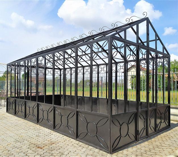 Serra da giardino in ferro battuto 3 x 6 mt