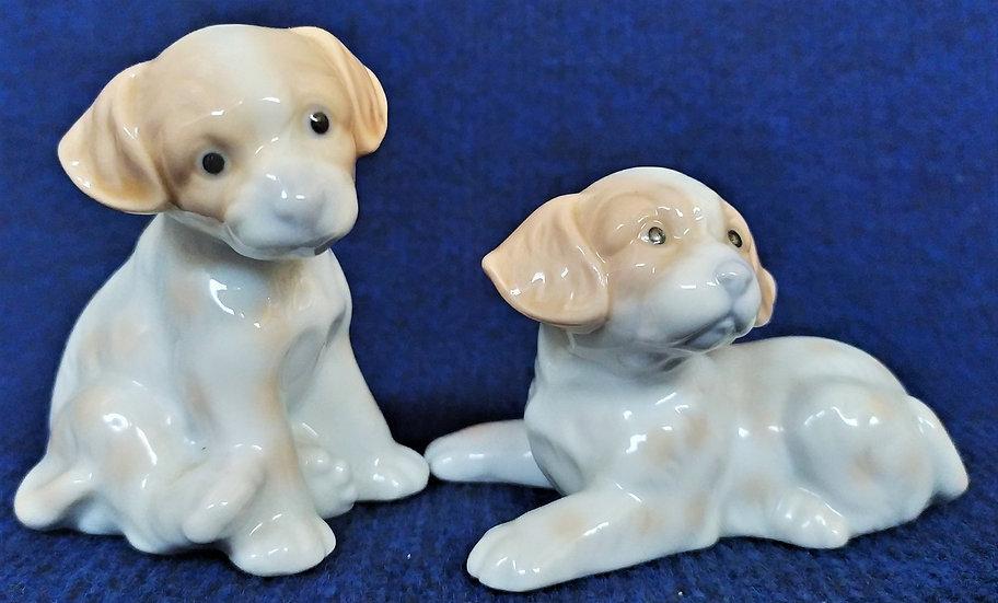 Coppia di cuccioli in ceramica di Capodimonte - anni '60